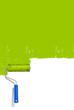 Grüne Wand Pinsel