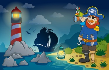 Lighthouse with pirate theme 3