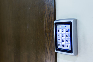Entrance access keypad