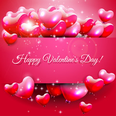 Valentine's Day pink greeting card