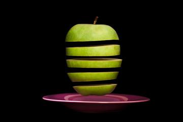 Manzana troceada