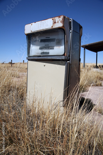 Old abandoned vintage USA gas station