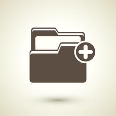 Folder plus icon
