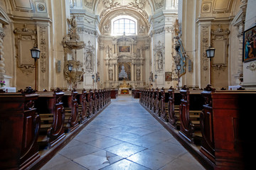 Baroque church interior