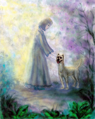 Собака и girl.2