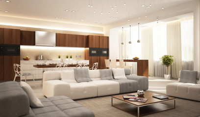 Modern interior in house