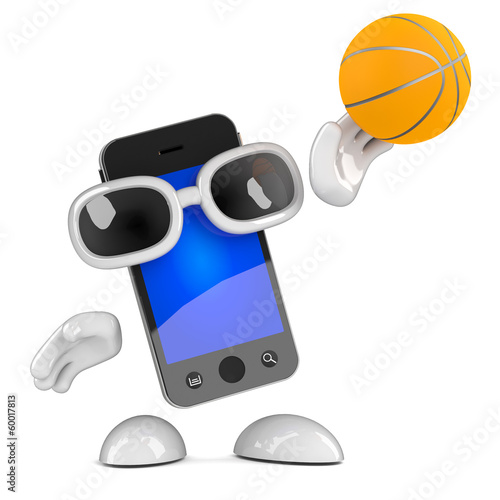 Smartphone, plays basketball