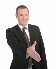 Handschlag eines Geschäftsmannes
