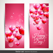 Valentine's Day pink banners