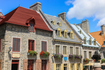Architecture of downtown Quebec, Canada