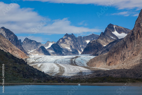 Hanging glacier in the Prince Christian Sound, Greenland