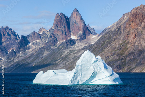 Iceberg in the Prince Christian Sound, Greenland