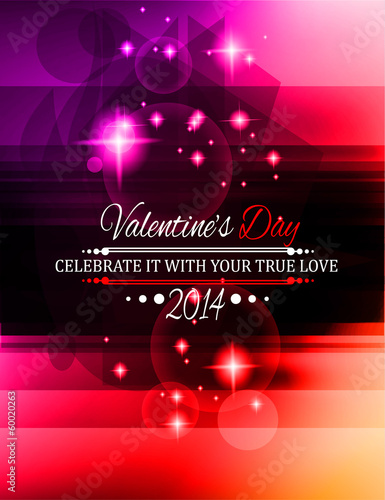 Valentine's Day template with stunning hearts
