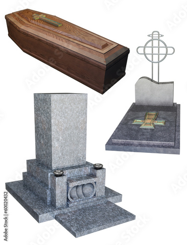 Coffin and Grave set