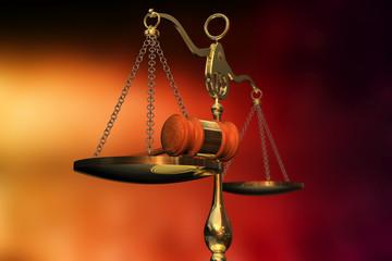 Waage - Hammer - Gesetz