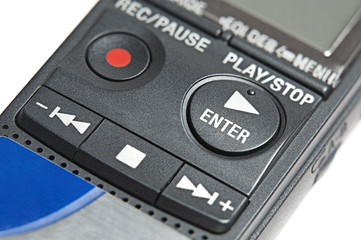 Buttons of digital dictaphone