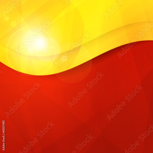 Abstract red yellow orange design template with copy space