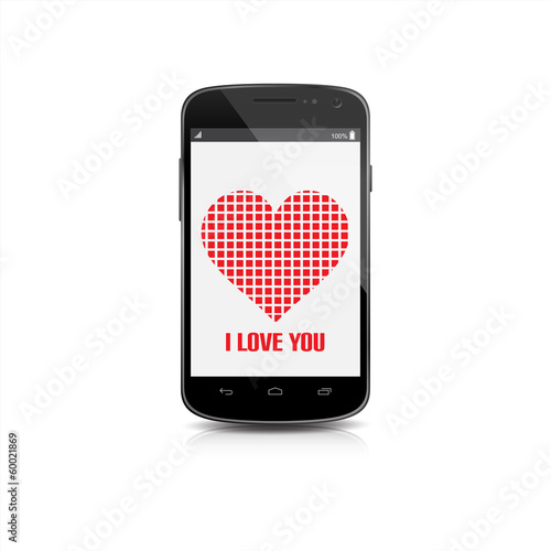 Mobile of Love Isolated