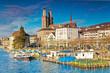 Blick auf Grossmünster, Zürich