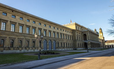 a building in Hofgarten munich