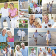 Happy Senior Couple People Beach Retirement Lifestyle