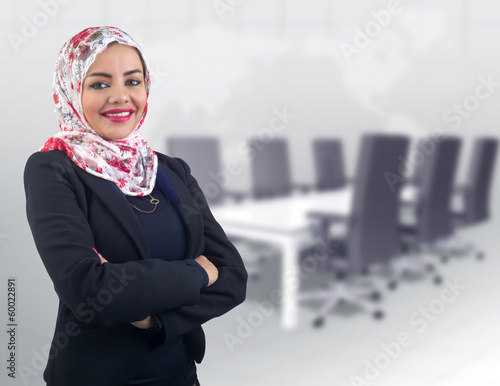Arabian Business Woman with her arms crossed