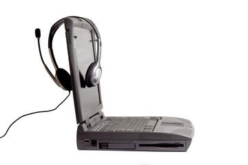 Earphones and Laptop