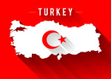 Turkey Map Design