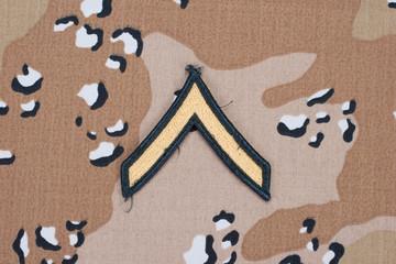 us army uniform sergeant rank patch