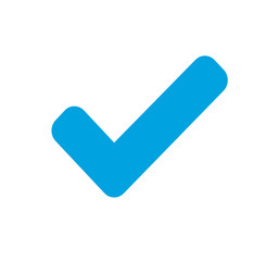 Check mark - Vector clean blue icon