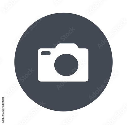 Camera round icon - gray icons