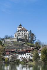 Buchs, Altstadt, historisches Schloss, Werdenberg, Schweiz