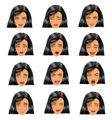 woman face expressions