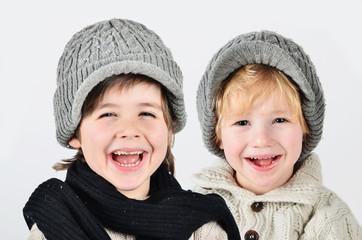 Lachende Jungen