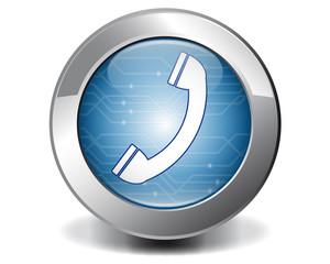 Blue telephone button