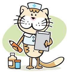 cartoon cat -  cute veterinarian character