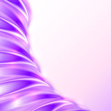 Violet abstract shining wave vector background