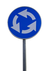 Traffic sign for roundabout