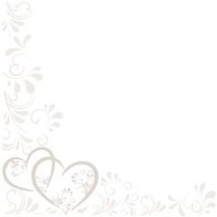 Hintergrund mit Ornamenten und Herzen
