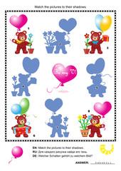 Valentine bears shadow game