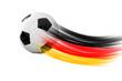 Leinwanddruck Bild - Fußball mit Deutschlandspur