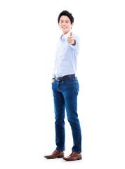 Showing thumb Asian young  man