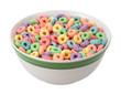 Multicolored Fruit Cereal isolated