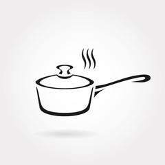 Hot pan icon or symbol.