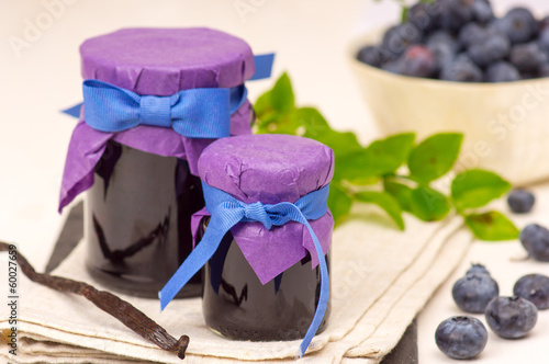 Blueberry confiture with vanila