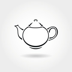 Teapot icon or symbol.