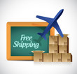 free shipping illustration design