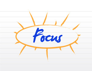 focus model illustration design