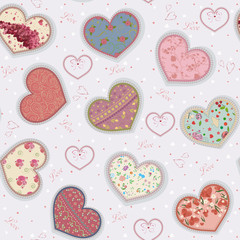 Background with Valentine's colorful hearts