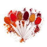 Fototapety spezie rosse in cucchiaio